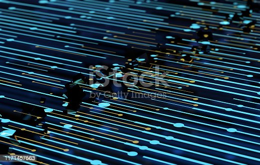 istock Future network data technology, big data transmission and storage, future connectivity 1171457563