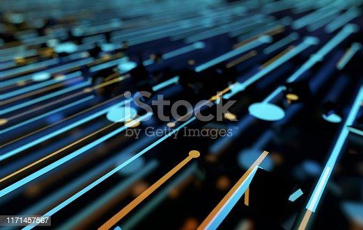 istock Future network data technology, big data transmission and storage, future connectivity 1171457567