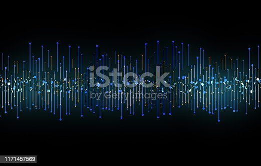 istock Future network data technology, big data transmission and storage, future connectivity 1171457569