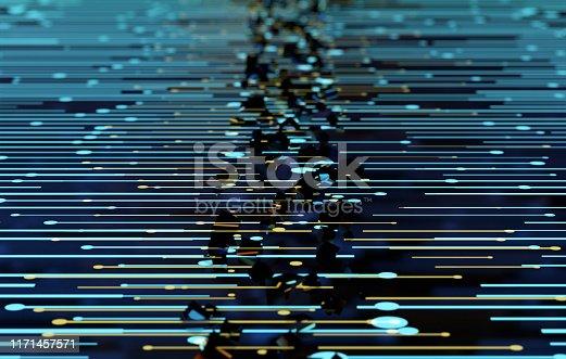 istock Future network data technology, big data transmission and storage, future connectivity 1171457571