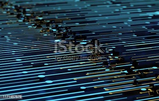 istock Future network data technology, big data transmission and storage, future connectivity 1171457573