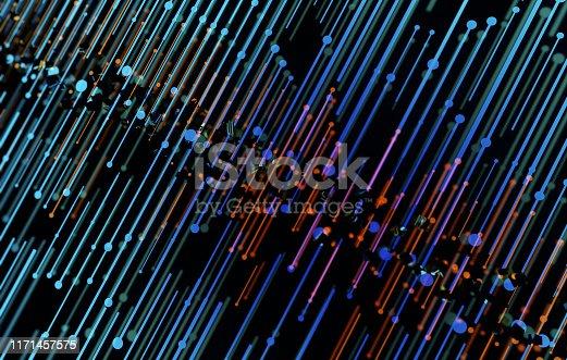 istock Future network data technology, big data transmission and storage, future connectivity 1171457575