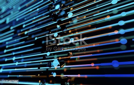 istock Future network data technology, big data transmission and storage, future connectivity 1171457580