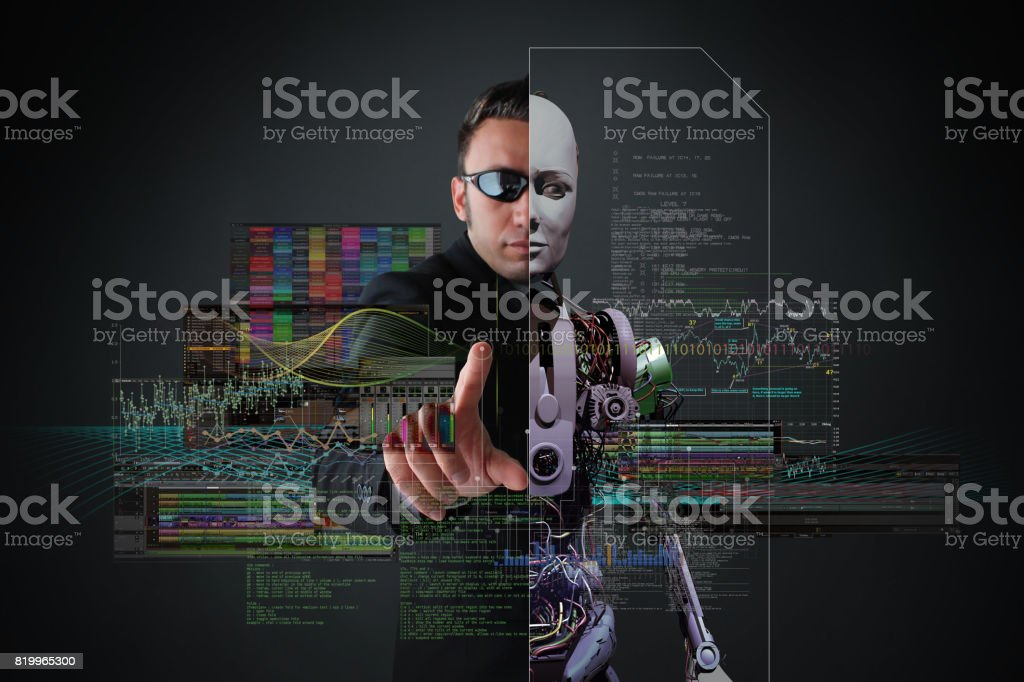 Future of The Androids stock photo