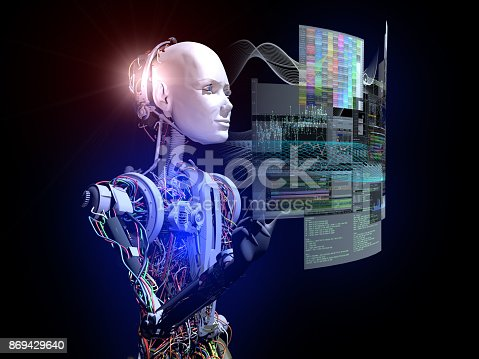 istock Future of The Intelligence Cyborgs 869429640