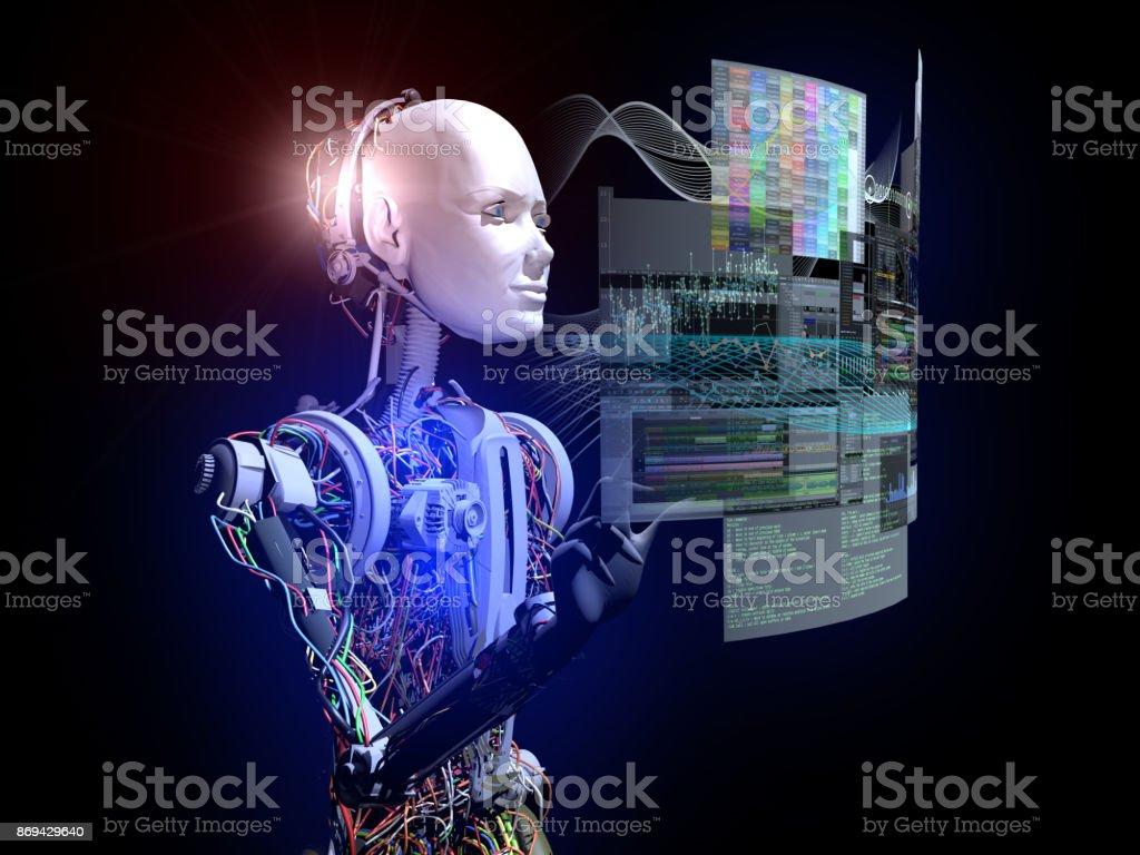 Zukunft der Intelligenz Cyborgs – Foto