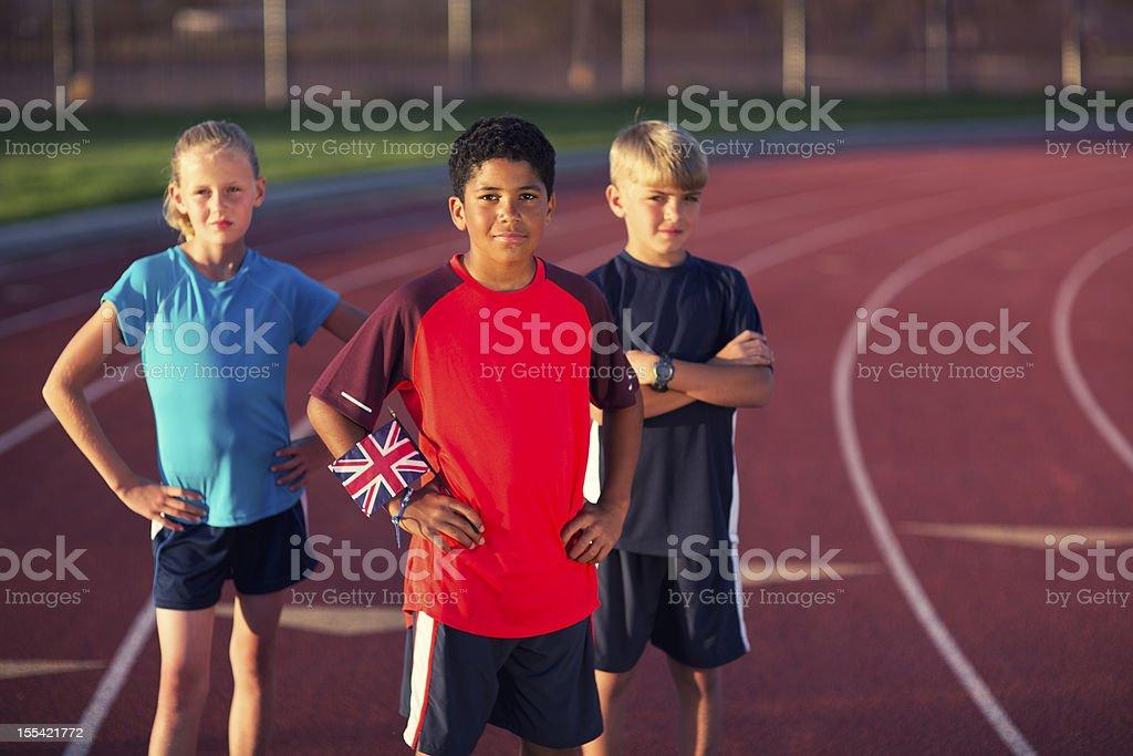 Future Olympians stock photo