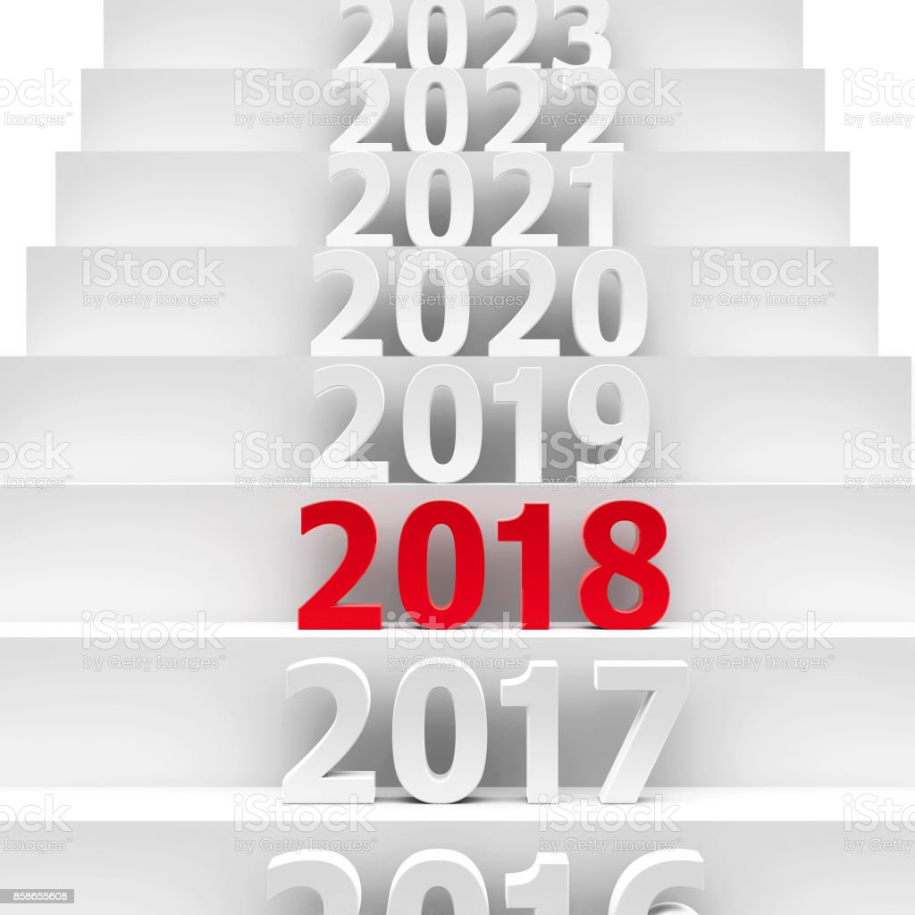 2018 future pedestal stock photo