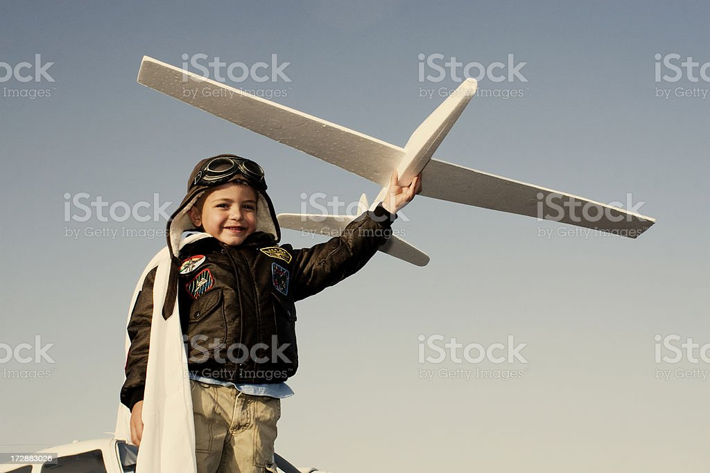 Future Pilot royalty-free stock photo