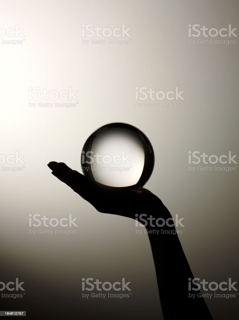 Futuro predicción en la mano - foto de stock