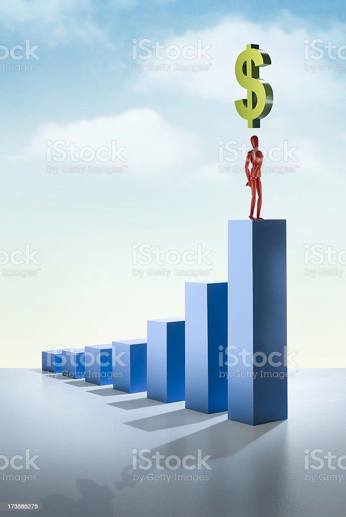Future profit growth stock photo