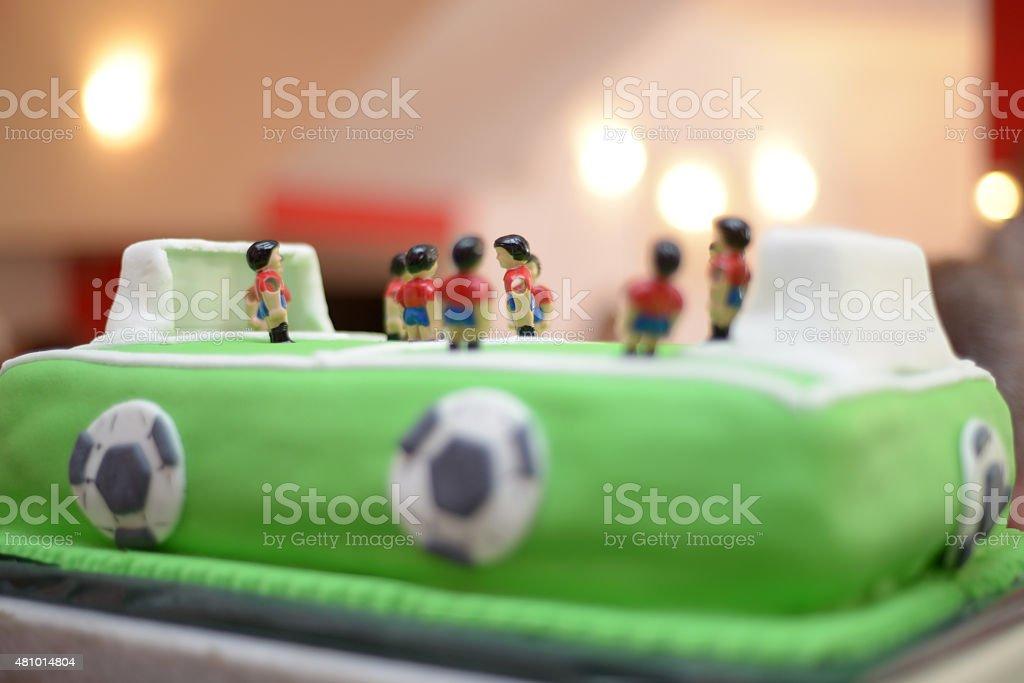 Zukünftige Fußballspieler Baby Boy Geburtstag Kuchenstadion Wie