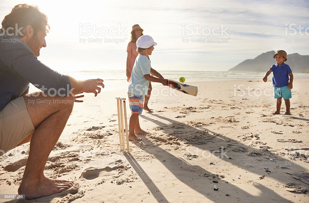 Future sports stars in training stock photo