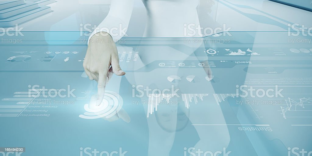 Future technology touchscreen interface. royalty-free stock photo