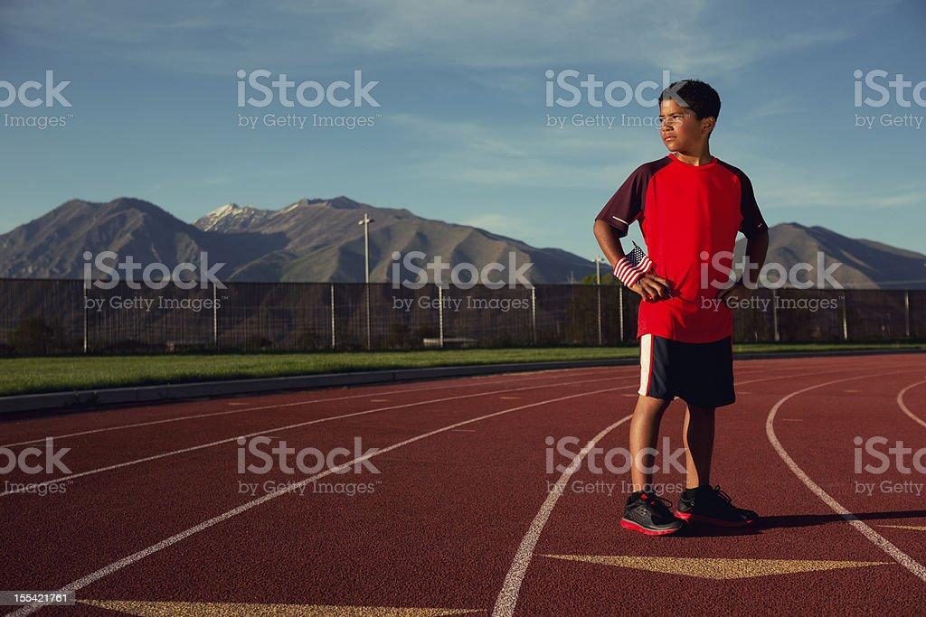 Future Track Star stock photo
