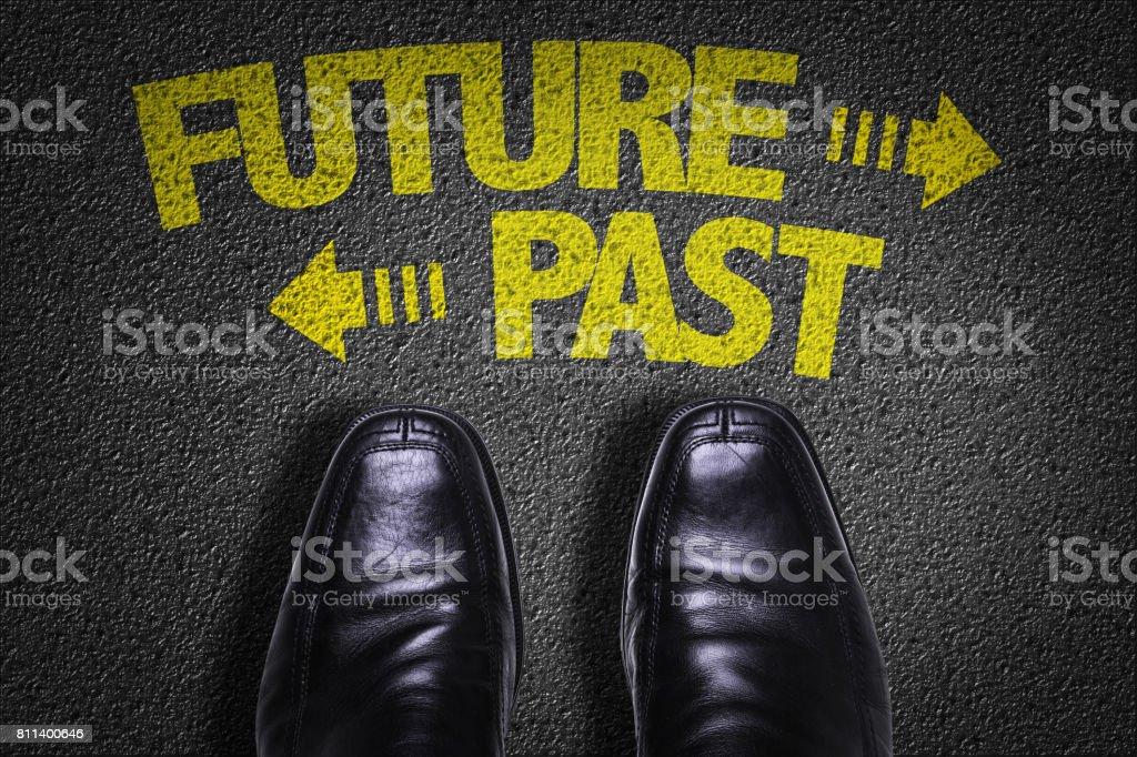 Future vs Past stock photo