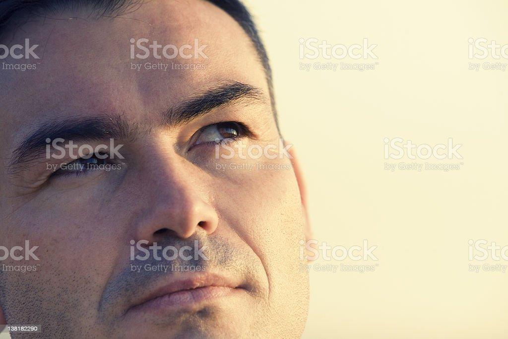 Future will be better Man thinking at dusk royalty-free stock photo