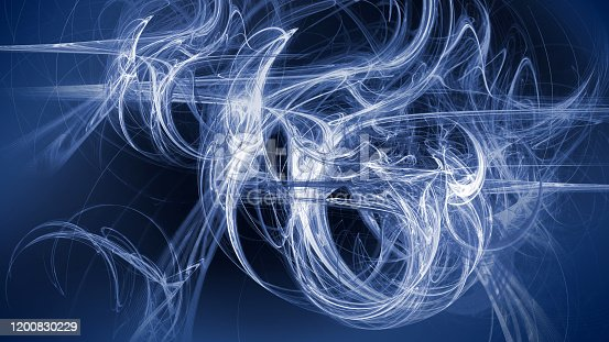 istock Futuristic 3d wallpaper abstract art in classic blue 1200830229