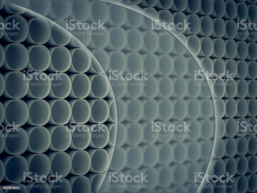 Futuristic Abstract Background with cylinder pattern photo libre de droits