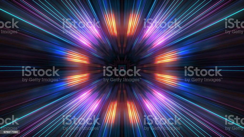 3D Futuristic abstract business and technology concept, Acceleration super fast motion blur of light ray for background design. stock photo