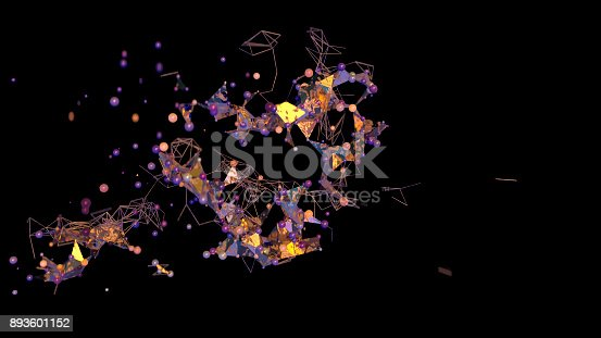 istock Futuristic abstract network strukture 893601152