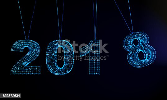1063751940istockphoto Futuristic Abstract New Year 2018 Background 855372634