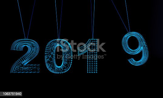 1063751940istockphoto Futuristic Abstract New Year 2019 Background 1063751940