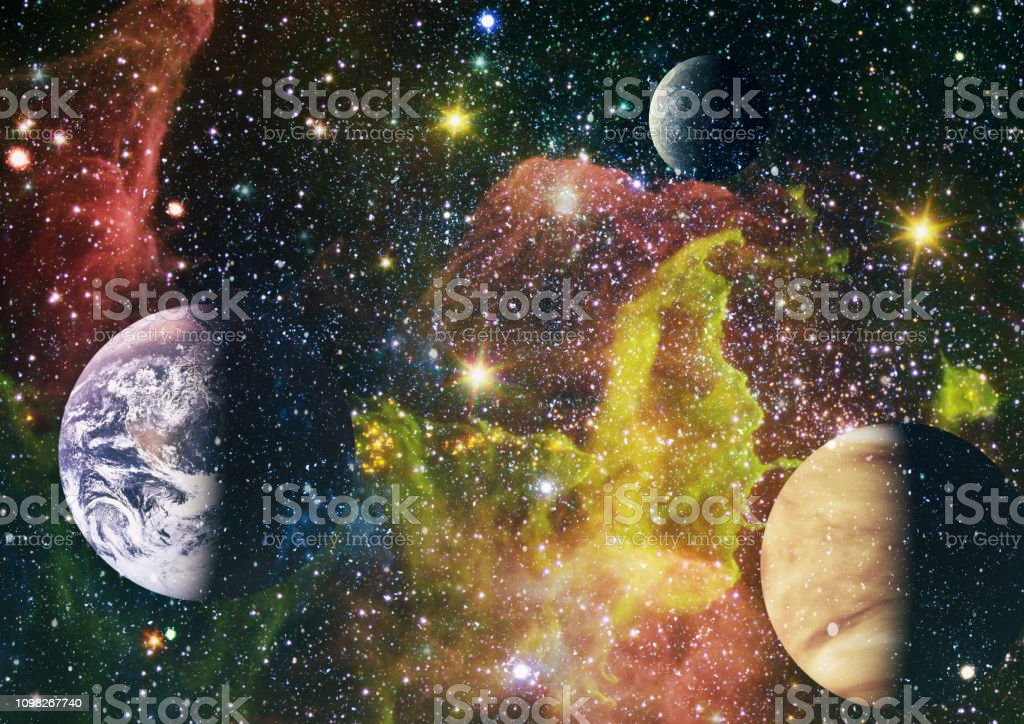 Dreamscape galaxy. Elements of this image furnished by NASA. Used...