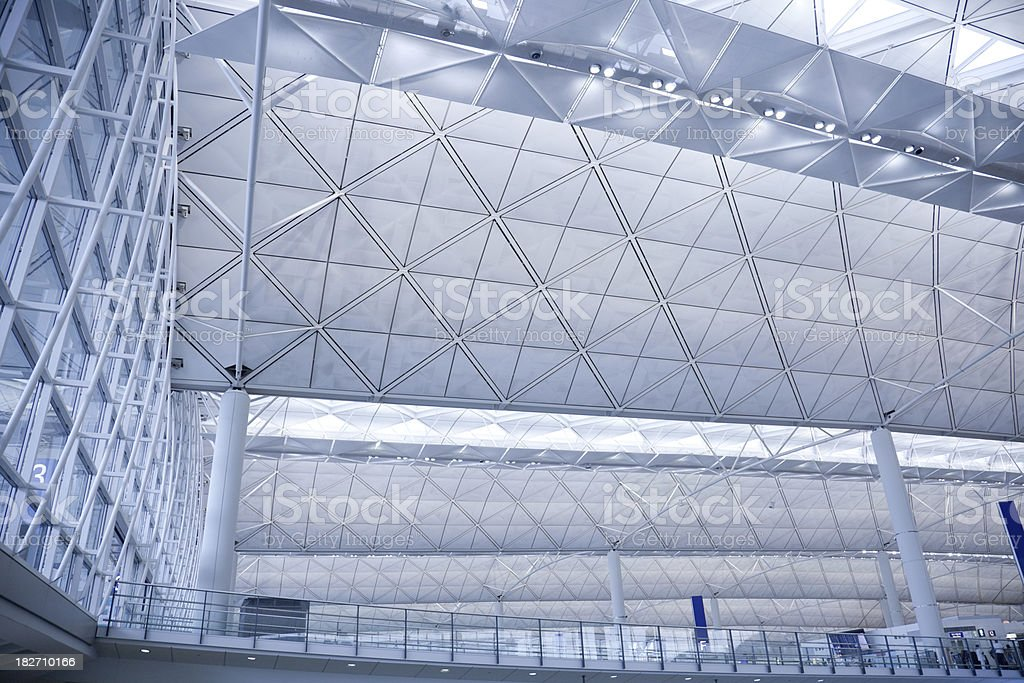 Aeroporto de futurista cobertura - foto de acervo