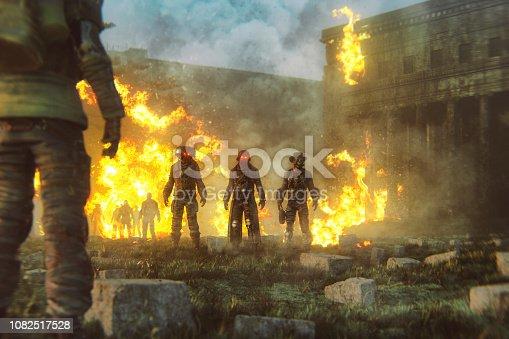 Futuristic apocalypse mercenaries.