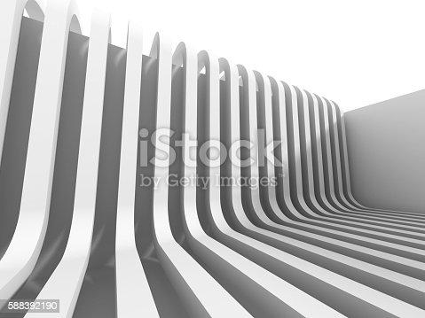 istock Futuristic Architecture Background With Stripe Pattern 588392190