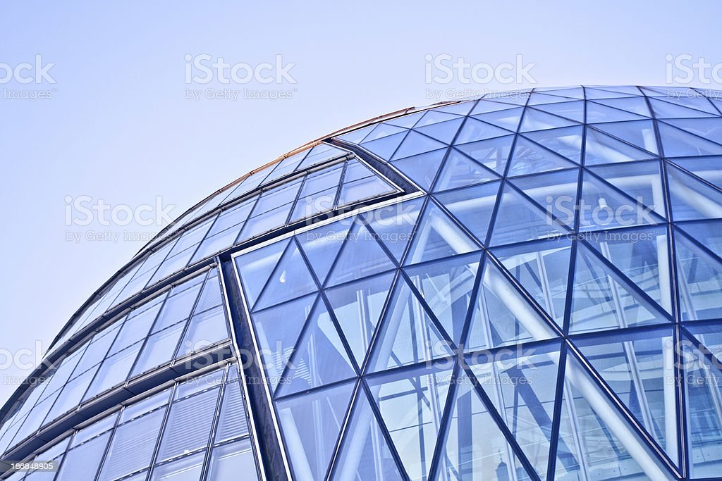 Futuristic Architecture Detail, City Hall in London royalty-free stock photo