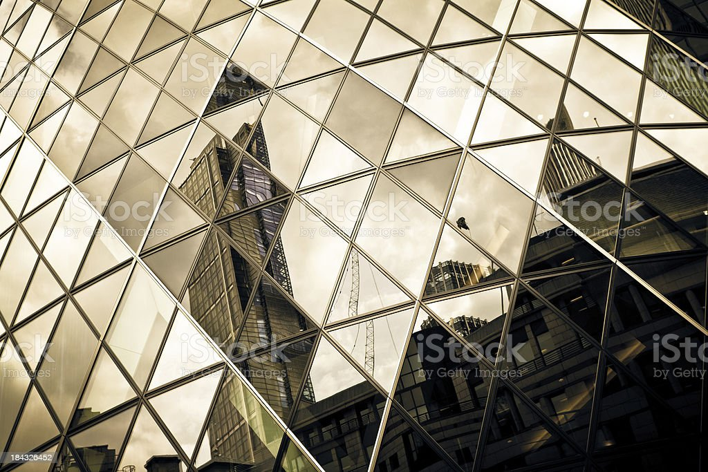 Futuristic Architecture Detail, Glass Skyscraper stock photo