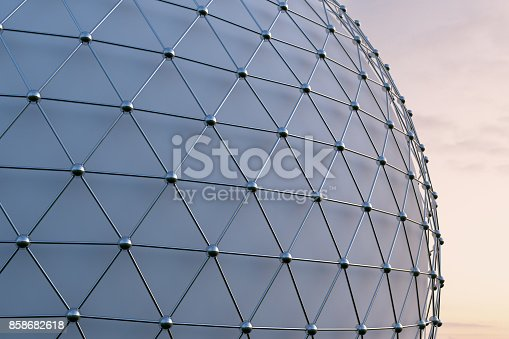 istock Futuristic Architecture Facade Background 858682618