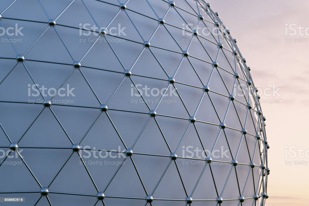 Futuristic Architecture Facade Background stock photo