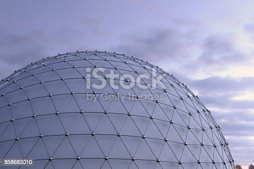 istock Futuristic Architecture Facade Background 858683010