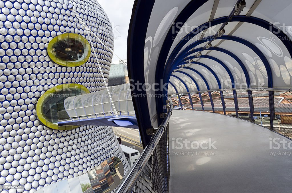 Futuristic architecture of the Bullring Birmingham, England stock photo