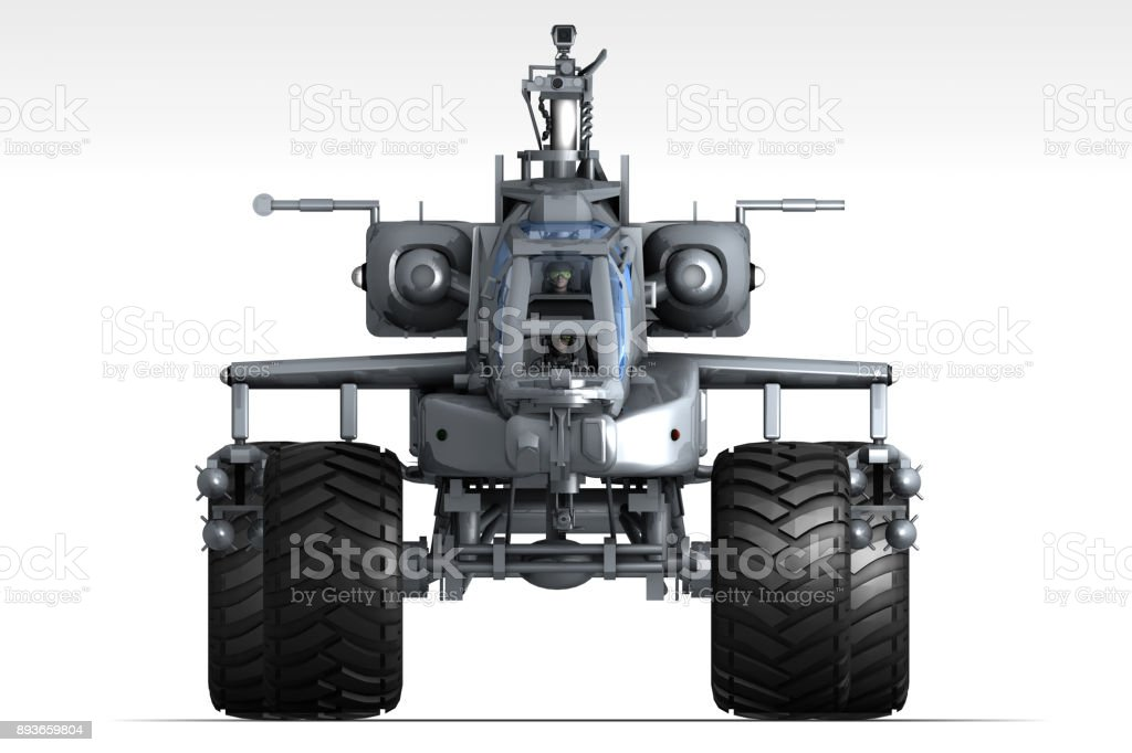 Futuristic Armored Tank and Weapons stock photo