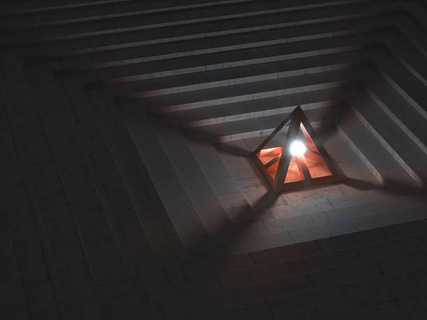 Futuristische Artefakt sending out helles Licht – Foto
