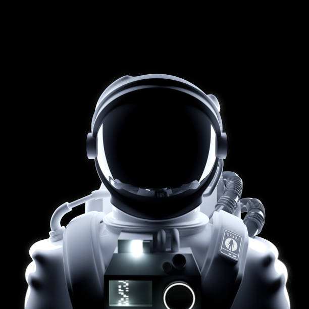 Futuristisches Astronauten-Weltraum-Suit-Porträt – Foto