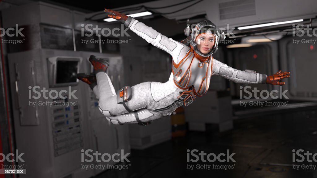 Futuristic Astronauts stock photo