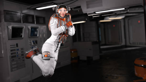 Futuristic Astronauts stock photo