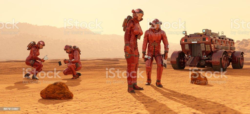 Futuristic Astronauts foto stock royalty-free