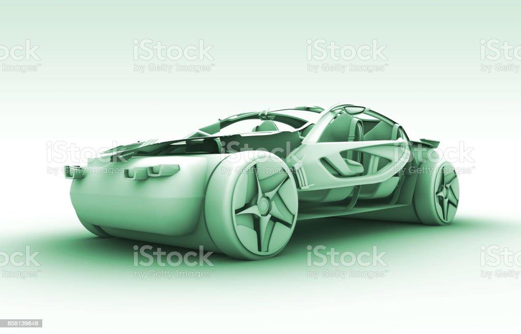 Futuristisches Autodesign – Foto