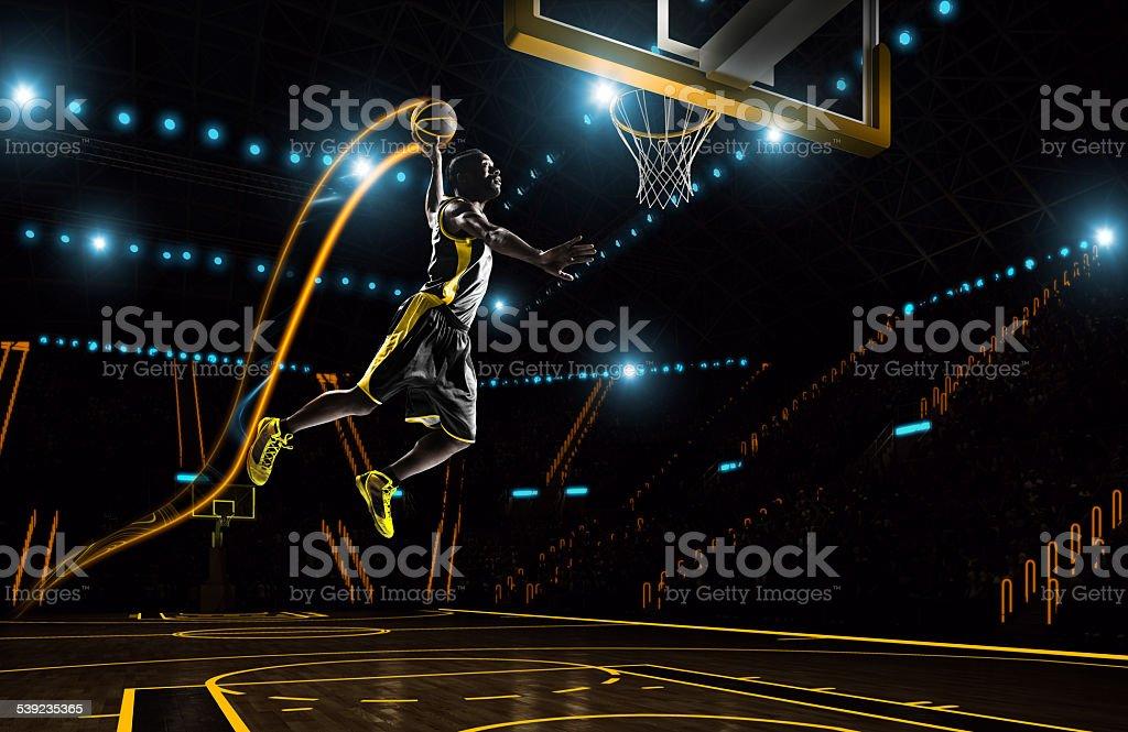 Futurista de baloncesto foto de stock libre de derechos