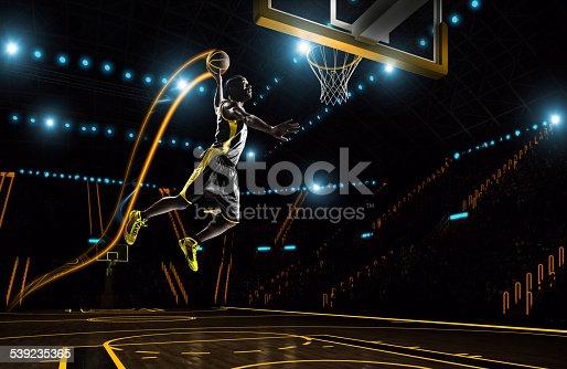istock Futuristic basketball 539235365