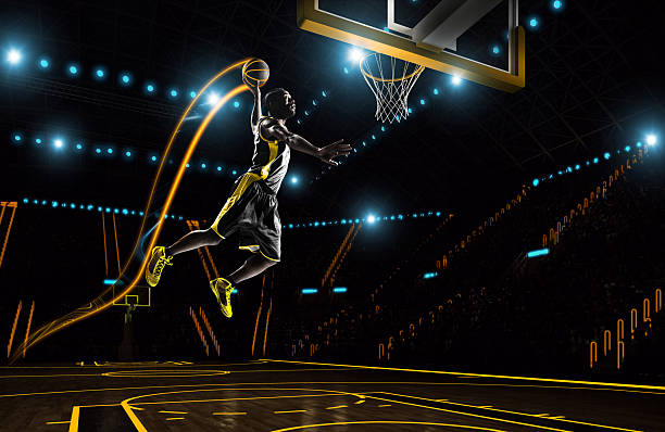 Futuristic basketball stock photo
