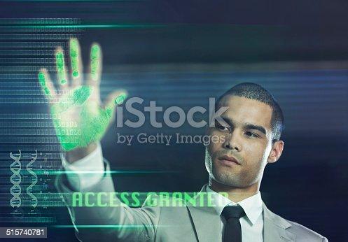 520592332istockphoto Futuristic biometric scanner 515740781