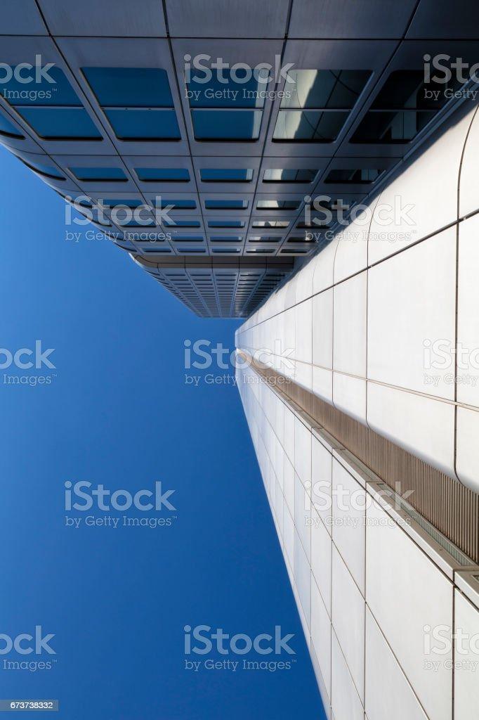 Fütüristik iş mimarisi, Frankfurt, Almanya royalty-free stock photo