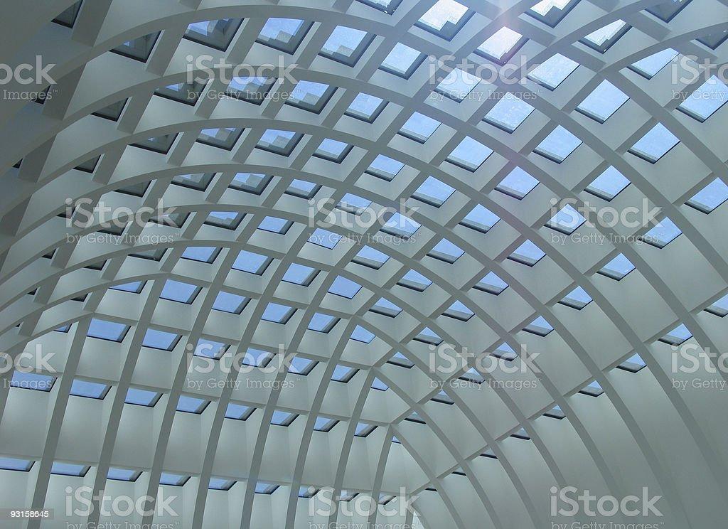 futuristic ceiling 2 royalty-free stock photo
